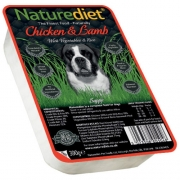 NATUREDIET Chicken&Lamb - konservai šunims 390g